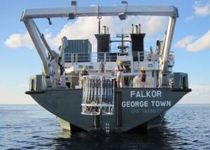 Falkor CTD deployment