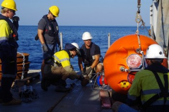 Oceanographic Mooring Deployment